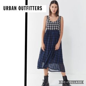 Urban Outfitters sz XS or S Cameron plaid midi
